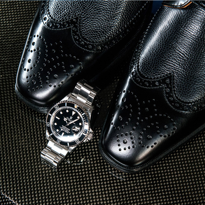 shoes and watches